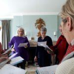 Voix féminines en travail sur un chant corse